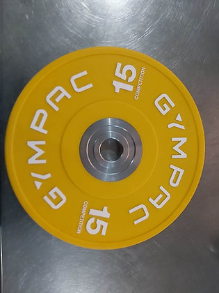 15kg 42mm bumbler plates Yellow Writing