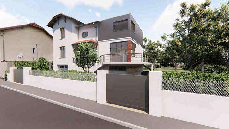 Réaménagement maison de ville grange_A