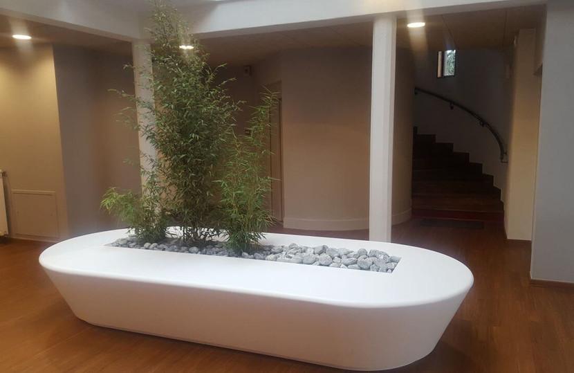 Mobilier Bois Design_Banque d'accueil Entreprise