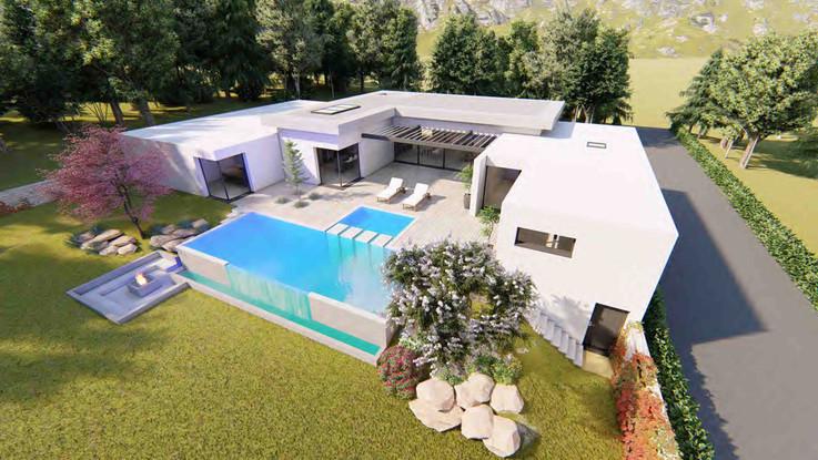 Maison habitation en U_Archibulle_Archit