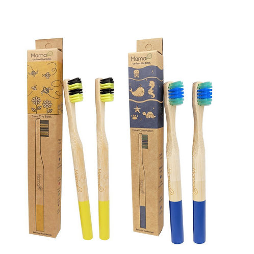 Kid's/Travel Bamboo Toothbrushes (Pack of 4)