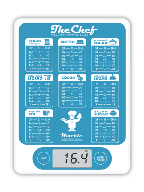 Mackie Scientific (TM), The Chef Food Baking Conversion Scale