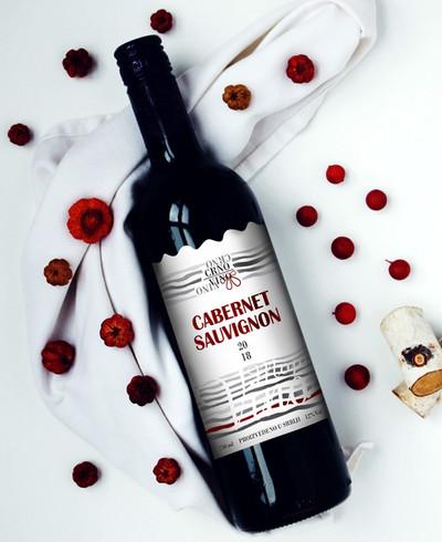 Crno vino etikete za vinske flase etiket