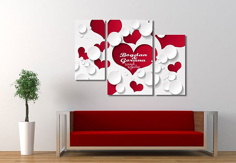 Crveno bela srca