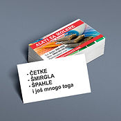 Vizitkarte jedna strana u boji vizit karte