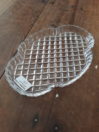Vintage cut glass display tray