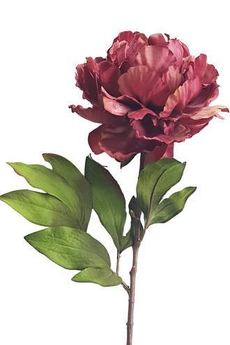 Dusky Pink Peony Artificial Flowers Faux Flowers Silk Flowers