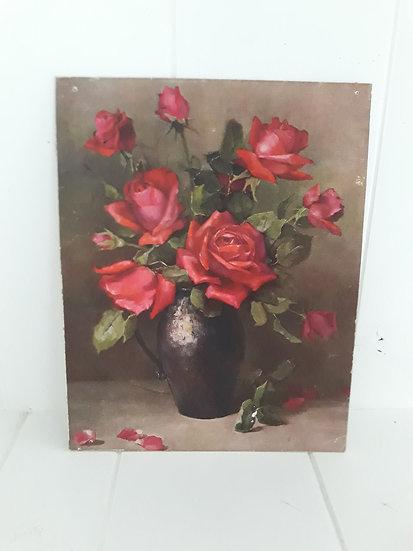Vintage Roses in a vase Print