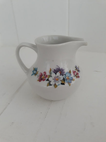Floral White Small Jug