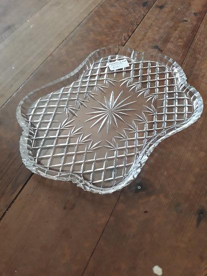 Cut Glass large glamorous tray