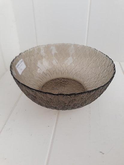 Large Smokey Glass Bowl