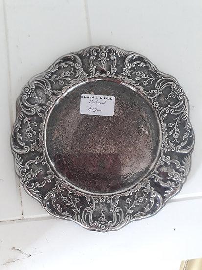 Vintage Embossed Metal Plate