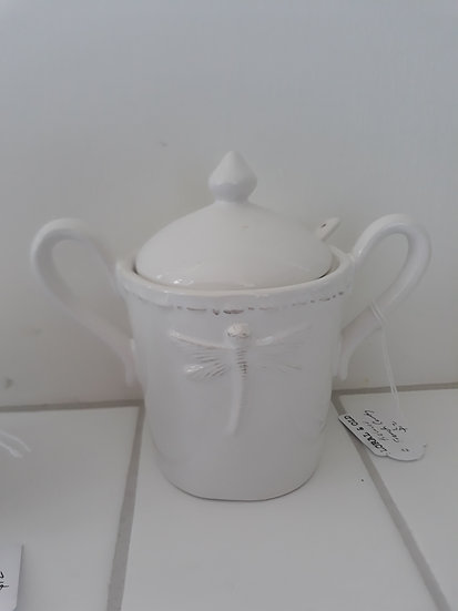 French Country Dragonfly Sugar Bowl