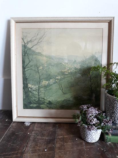 Vintage Landscape Stark Trees Picture