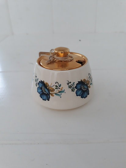 Vintage Gold Lidded Sugar Bowl