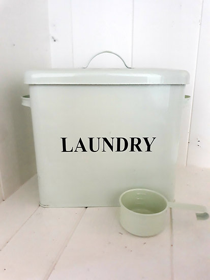 Mint Green Large Laundry Storage Tin