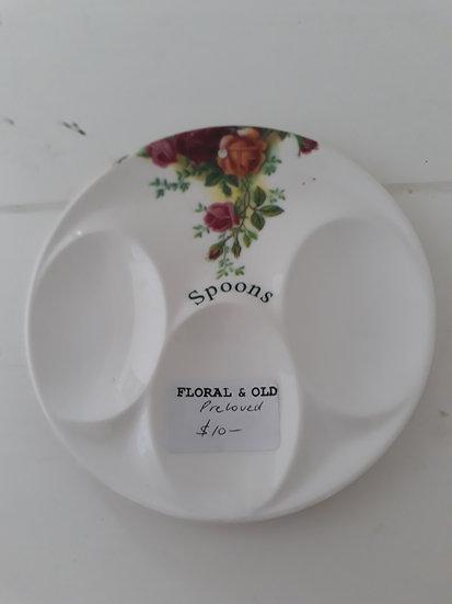 Vintage Floral Spoon Plate