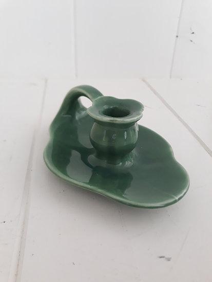 vintage green wee willie winkie candleholder