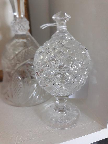 crystal lidded bowl