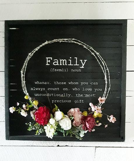 wreath art, rustic art, floral & old, floral and old, black white art, vintage, wreath tauranga katikati, wedding, phrase art