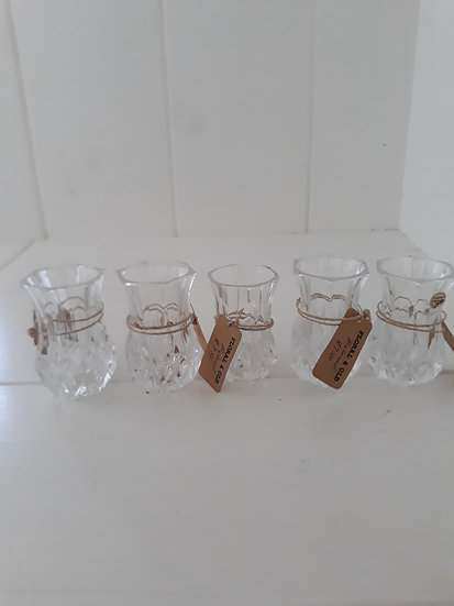 Vintage Cut Glass and Crystal Bud Vases Various