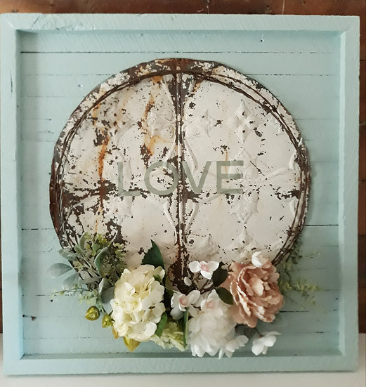 wreath art, rustic art, floral & old, floral and old, duck egg blue, vintage, wreath tauranga katikati, wedding, phrases art