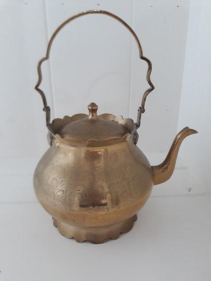 Large Brass Vintage Teapot