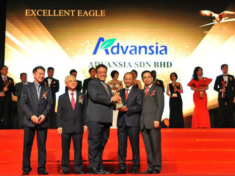 ADVANSIA SDN. BHD. NAMED MALAYSIA TOP 100 EXCELLENT ENTREPRISES BY BRINGING HOME THE EXCELLENT EAGLE