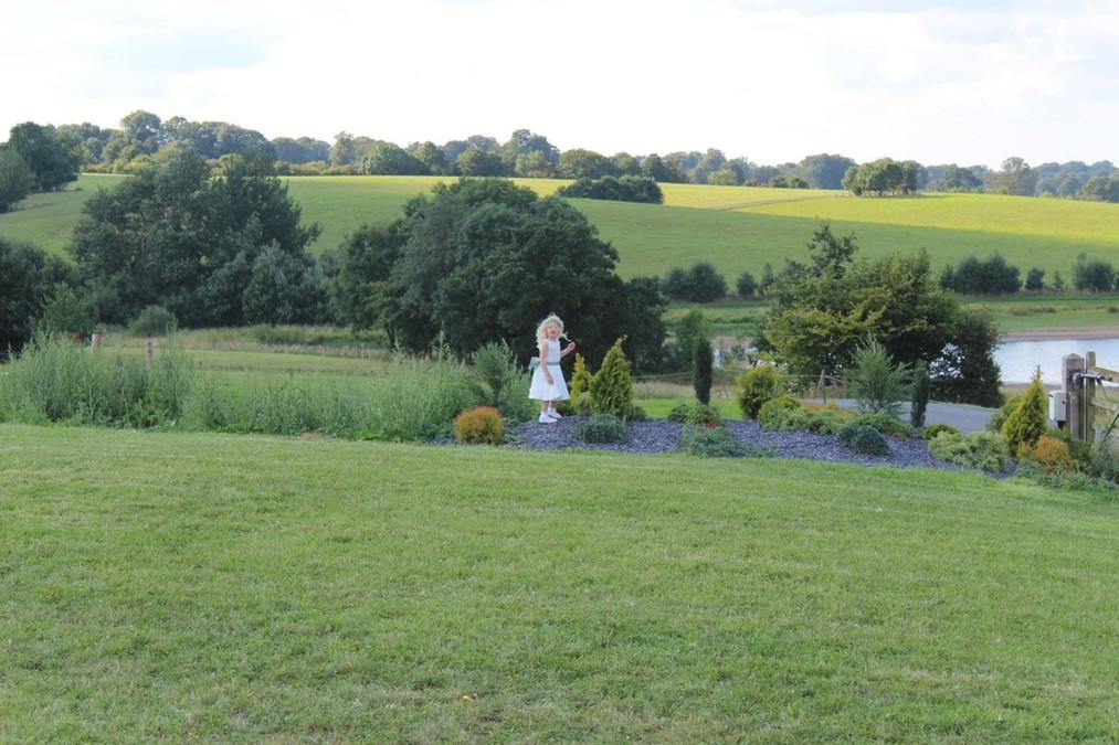 The lovely flowergirl at Blithfield Lakeside Barns