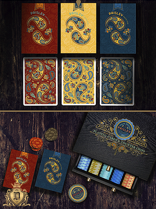 Paisley Poker Playing Cards Deallez Euro