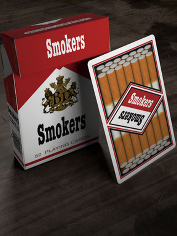Smokers Playing Cards
