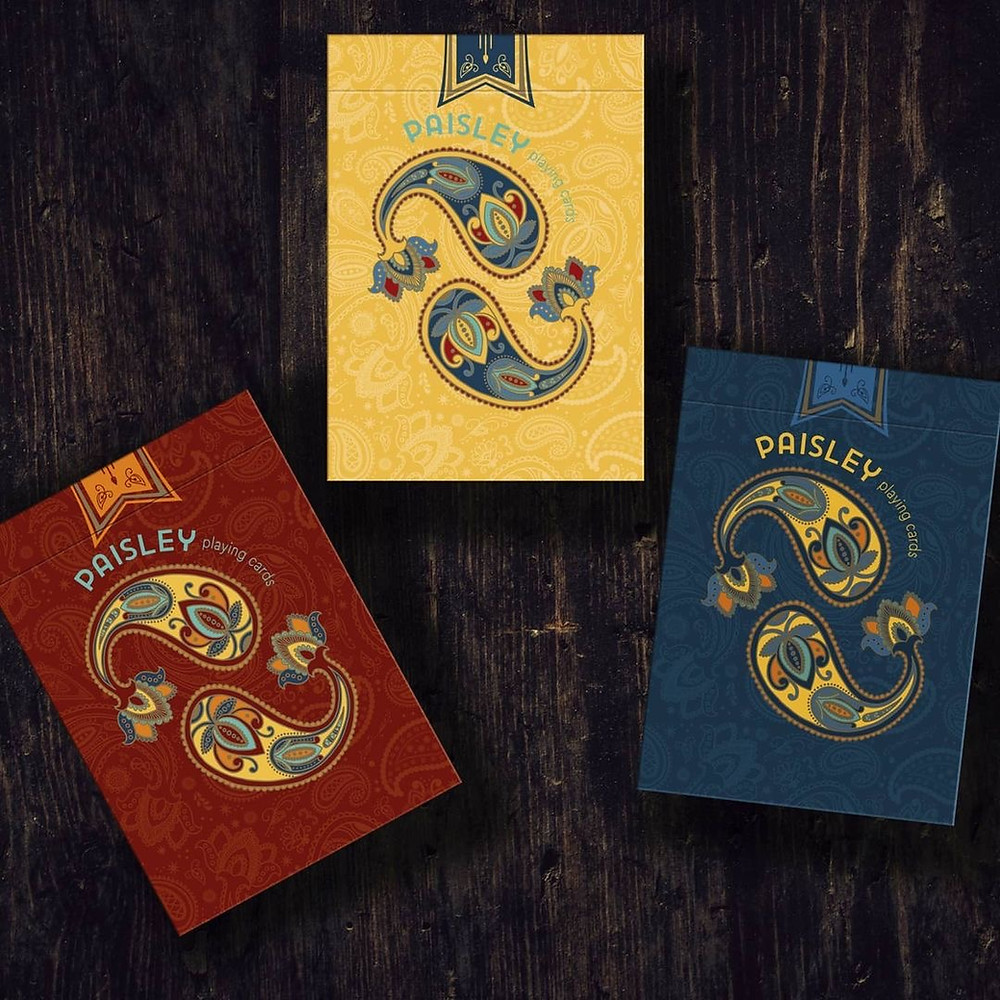 Paisley Poker Playing Cards Deallez Europe Fulfillment