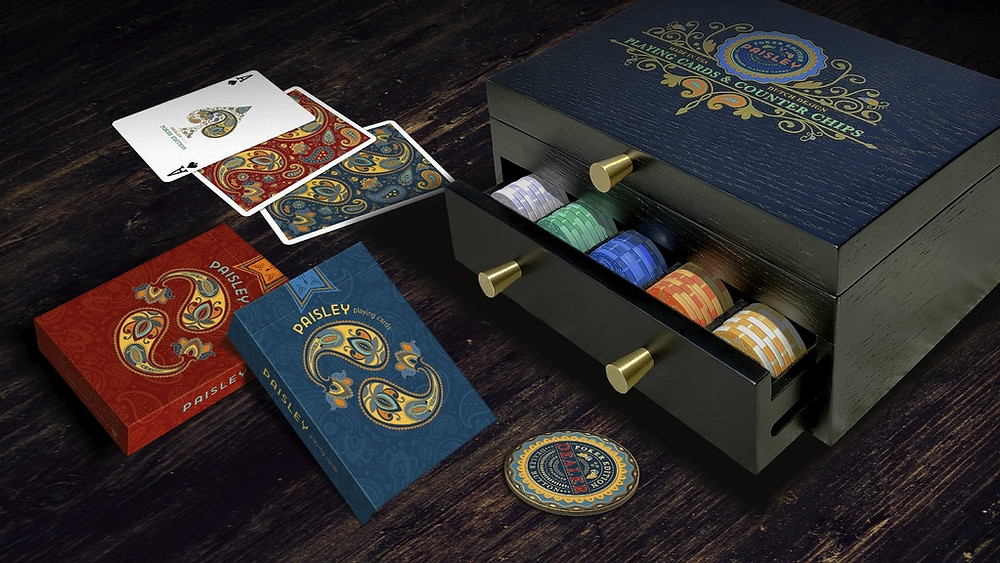 Paisley Poker Playing Cards. Deallez Logistic Europe Fulfillment.