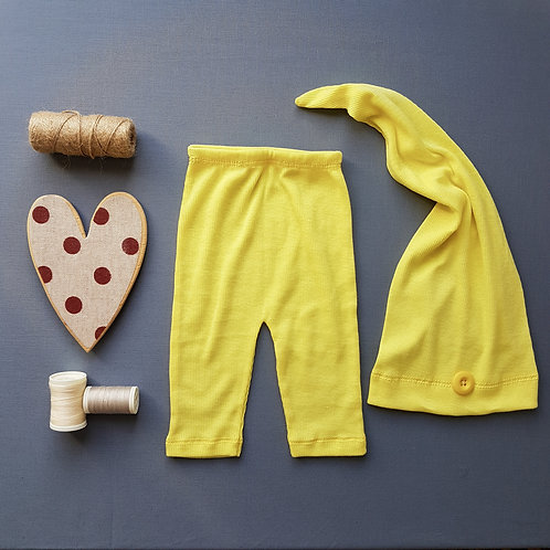 Calça + Touca Yellow - Newborn