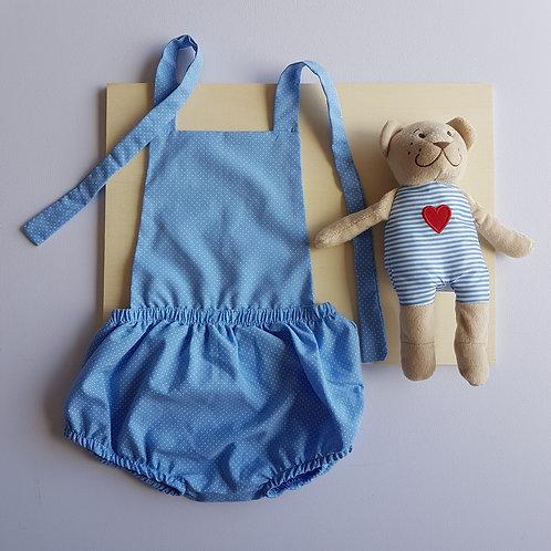 Body Azul Poá - 12 meses
