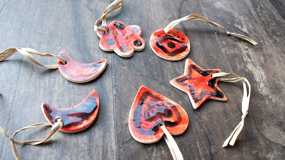 Red Small Ornaments