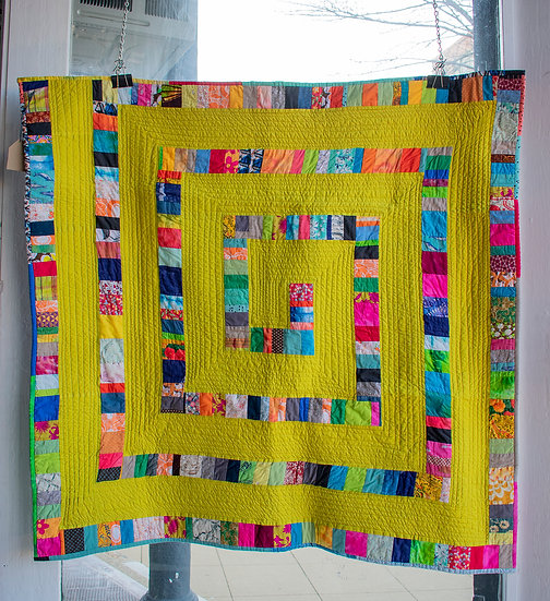 Yellow Margo Snake Quilt