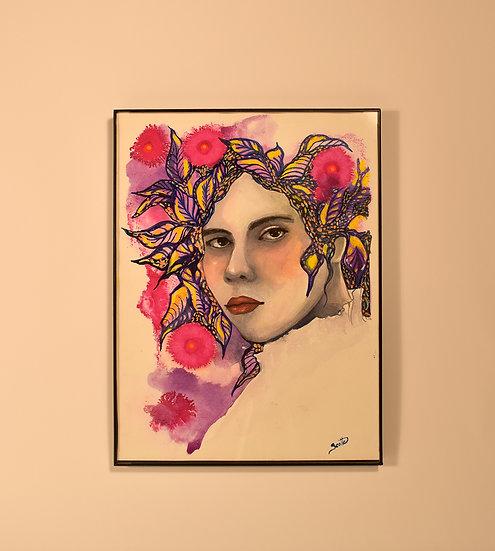 El rostro entre tinta