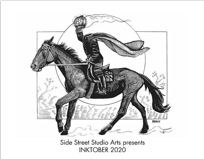 Side Street Inktober 2020 Calendar