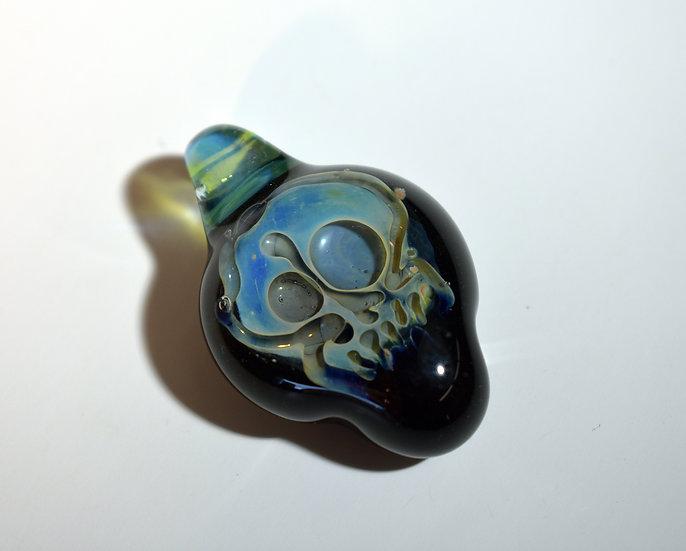 Blue Skull Pendant