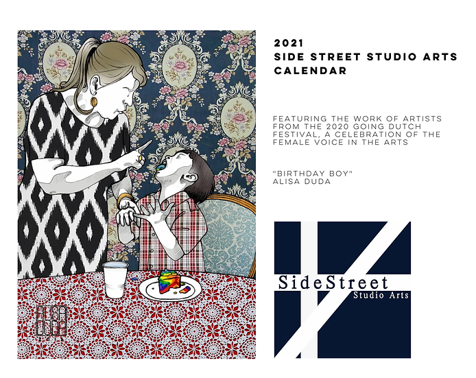2021 Side Street Studio Arts Calendar