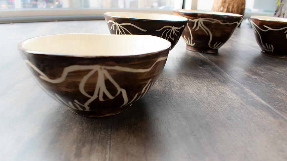 Brown Bowls Set