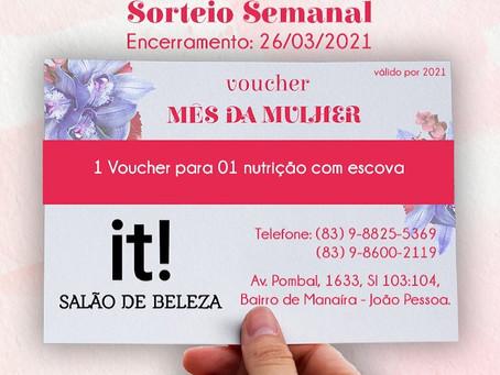 CAA-PB realiza sorteios de vouchers nesta sexta-feira 26 de Março - Mês da Mulher