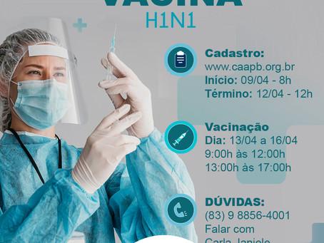 CAA-PB inicia a vacinação gratuita contra gripe para a advocacia em todo o estado