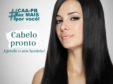 CAA-PB informa que os serviços de manicure, pedicure, cabeleireiro são realizados por agendamento