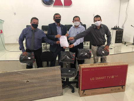 OABPB - Caa/Pb entrega a Subseção Guarabira equipamentos para sala audiência virtual