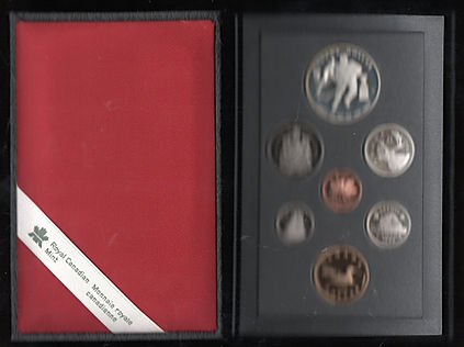Canada-1993-7-Coin-Proof-Set-In-Leathere