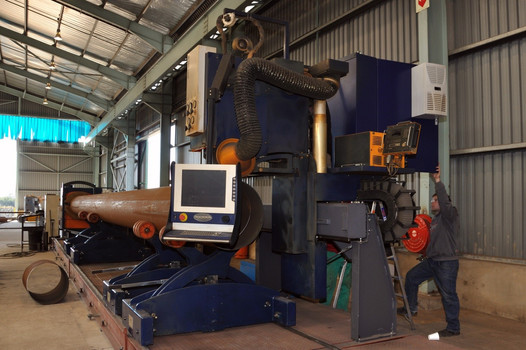 CNC Pipe Profiling Machine from 500NB - 1200NB Plasma cut up to 25mm wall thickness