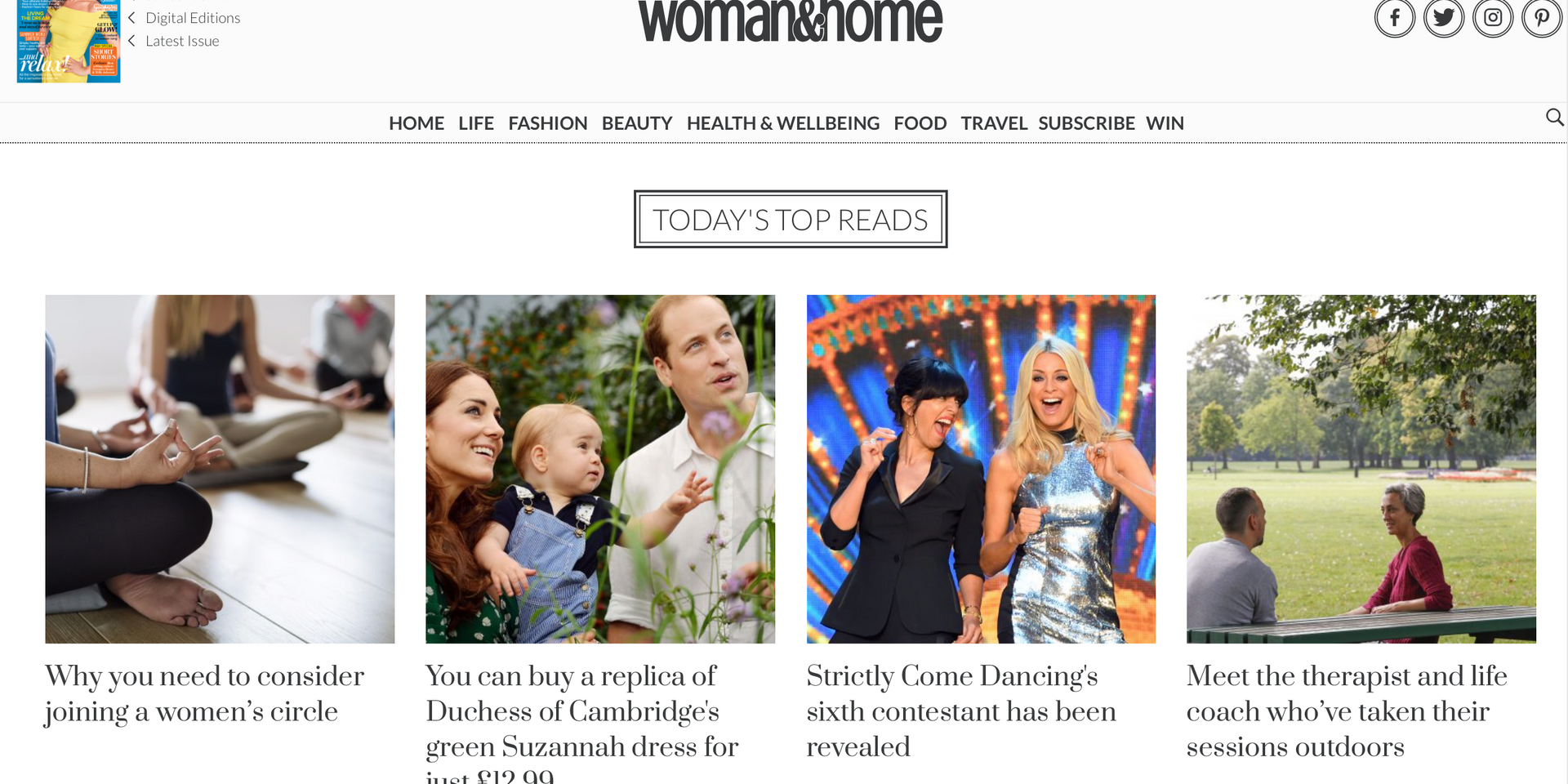 Daily woman&home news stories, woman&home