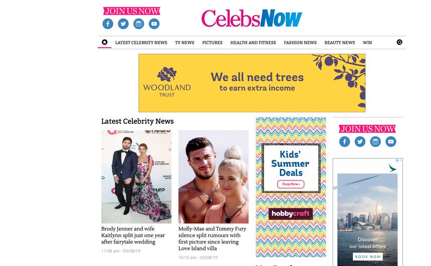 Daily CelebsNow news stories, CelebsNow